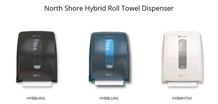 north shore hybrid roll towel dispensers